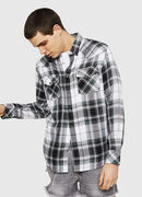 S-EAST-LONG-F, Negro/Blanco - Camisas