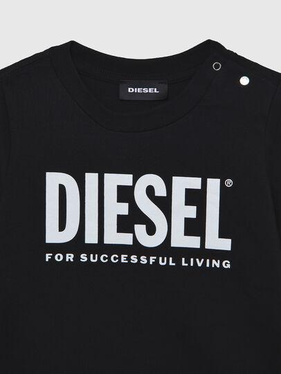 Diesel - TJUSTLOGOB ML, Negro - Camisetas y Tops - Image 3