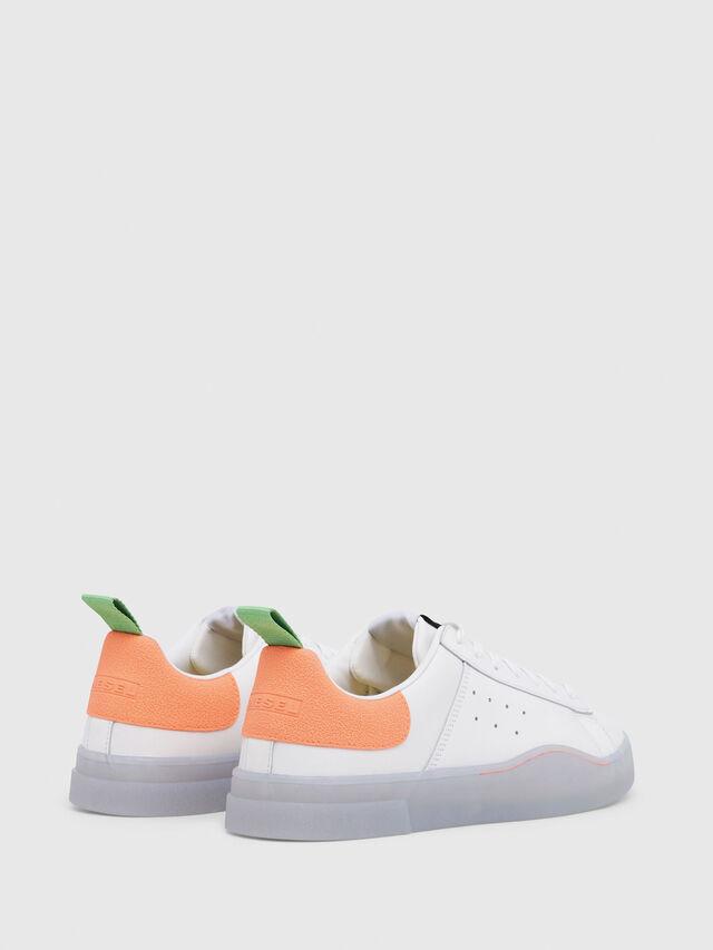 Diesel - S-CLEVER LOW, Blanco/Naranja - Sneakers - Image 3