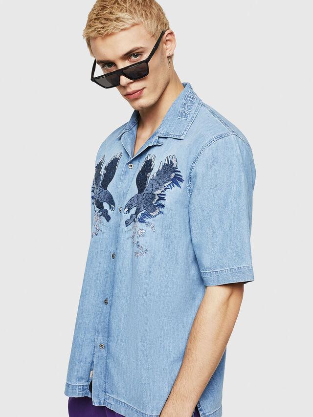 Diesel - D-RASHI, Blue Jeans - Camisas de Denim - Image 1