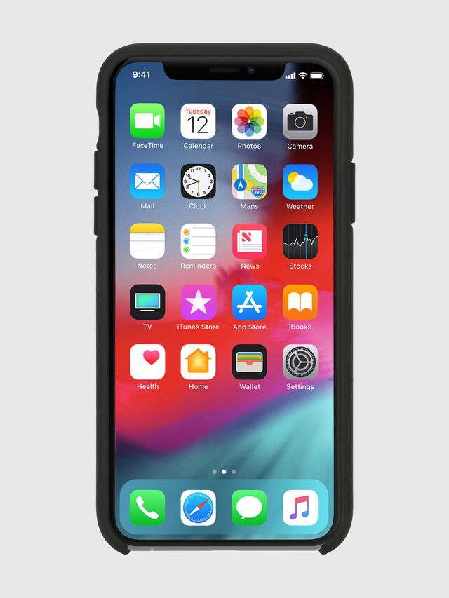 Diesel - DIESEL PRINTED CO-MOLD CASE FOR IPHONE XS & IPHONE X, Negro/Blanco - Fundas - Image 4