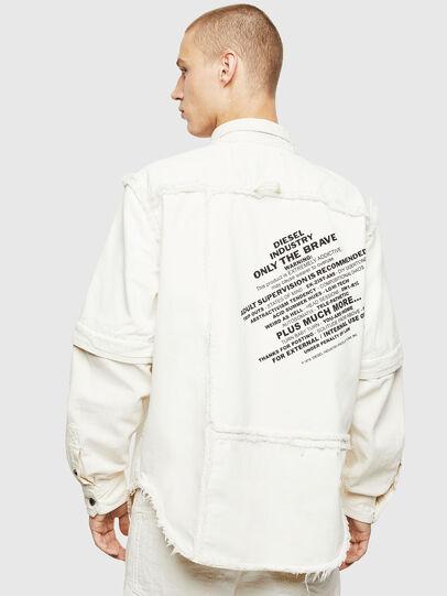 Diesel - D-KURTIS, Blanco - Camisas de Denim - Image 2