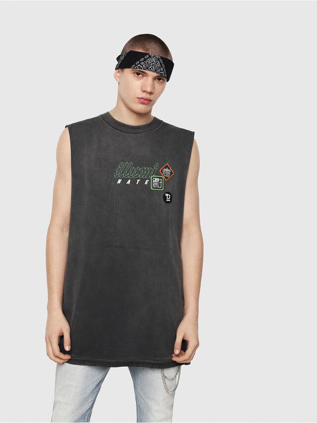 Diesel - T-MINOLESS, Negro - Camisetas - Image 1