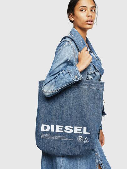 Diesel - F-THISBAG SHOPPER NS, Blanco/Azul - Bolsos Shopper y Al Hombro - Image 7