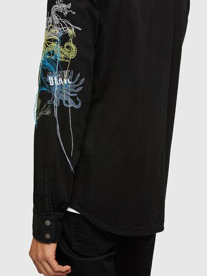 Diesel - D-EAST-P1-SP, Negro - Camisas de Denim - Image 4