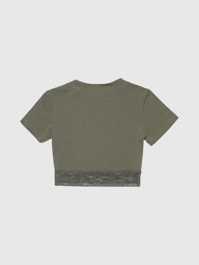 Diesel - UFTEE-GIORGMESH-SV, Verde Militar - Camisetas - Image 2