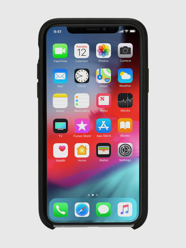 Diesel - DIESEL LEATHER CO-MOLD CASE FOR IPHONE XS & IPHONE X, Negro - Fundas - Image 4