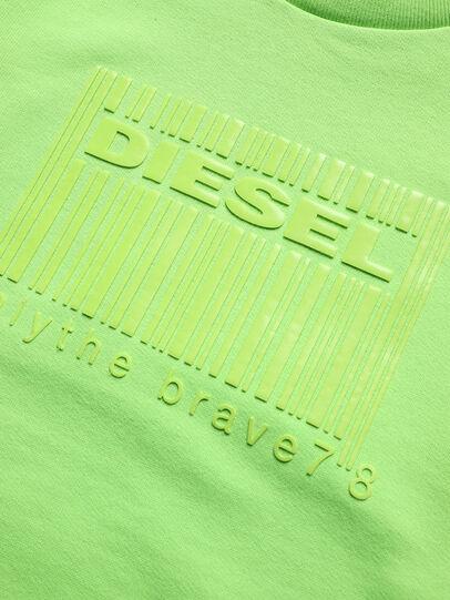 Diesel - SCOLIGCODE OVER, Verde Fluo - Sudaderas - Image 3