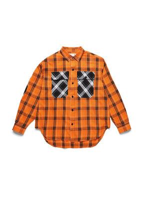 D-ANORACHECK, Naranja - Camisas