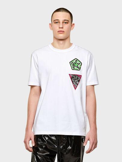 Diesel - T-JUBIND-SLITS-E1, Blanco - Camisetas - Image 1