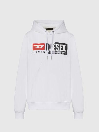 Diesel - F-ANG-HOOD-CUTY, Blanco - Sudaderas - Image 1