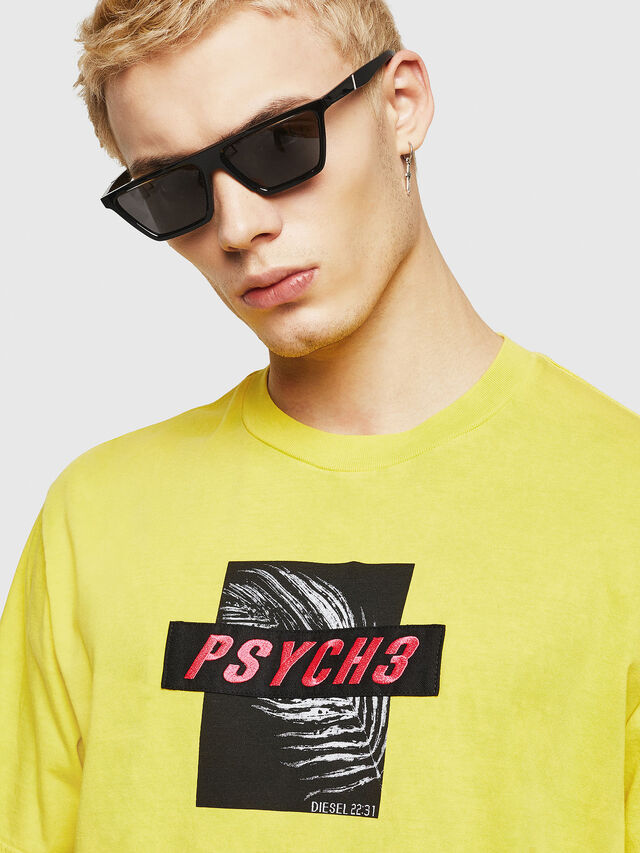 Diesel - T-JUST-Y18, Amarillo - Camisetas - Image 2