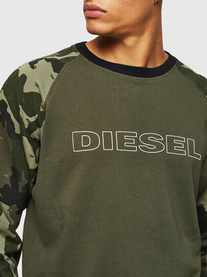 Diesel - UMLT-MAX, Verde Camuflaje - Sudaderas - Image 3