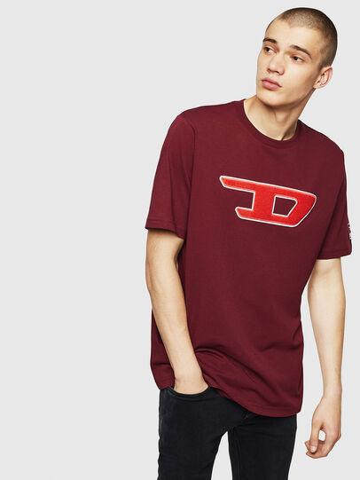 Diesel - T-JUST-DIVISION-D, Burdeos - Camisetas - Image 1