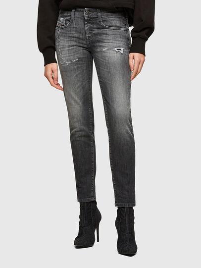 Diesel - D-Ollies JoggJeans® 009QT, Negro/Gris oscuro - Vaqueros - Image 1