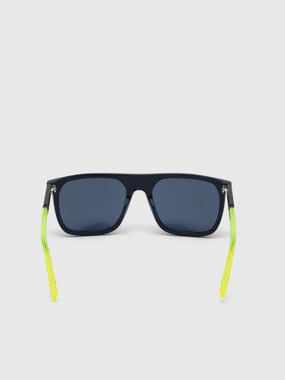 Diesel - DL0299, Azul/Amarillo - Gafas de sol - Image 4
