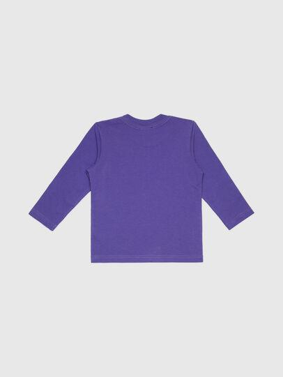 Diesel - TJUSTLOGOB-FL ML-R, Violeta - Camisetas y Tops - Image 2