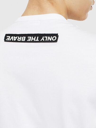 Diesel - T-WORKY-SLITS, Blanco - Camisetas - Image 4