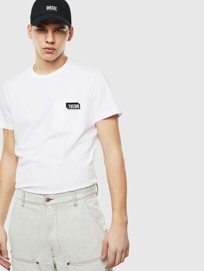 Diesel - T-WORKY-SLITS, Blanco - Camisetas - Image 5