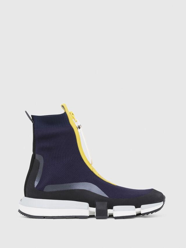 Diesel - H-PADOLA MID ZIP, Azul/Amarillo - Sneakers - Image 1