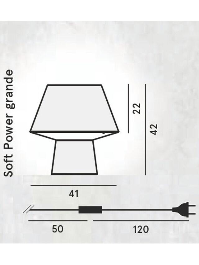 Living SOFT POWER GRANDE, Negro - Lámparas de Sombremesa - Image 2