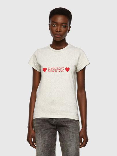 Diesel - T-SLICUP, Gris Claro - Camisetas - Image 1