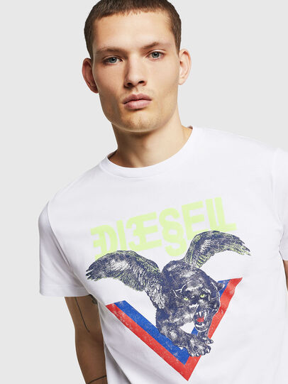 Diesel - T-DIEGO-A4, Blanco - Camisetas - Image 3