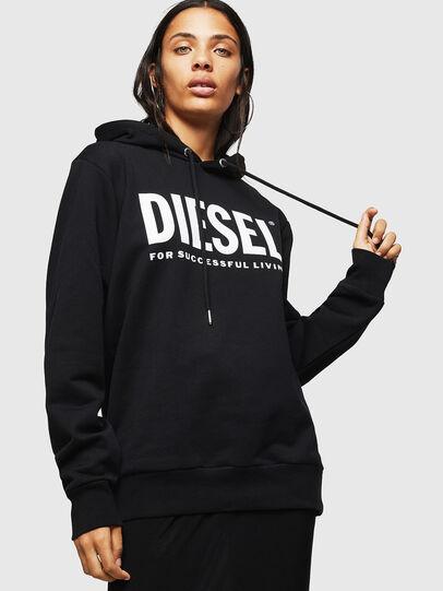 Diesel - F-GIR-HOOD-DIV-LOGO-, Negro - Sudaderas - Image 1