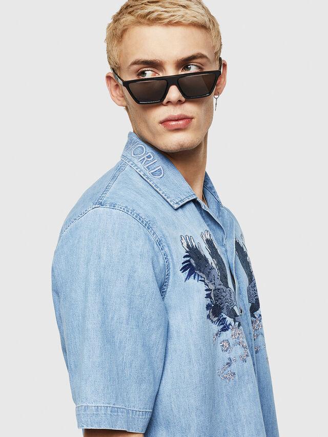 Diesel - D-RASHI, Blue Jeans - Camisas de Denim - Image 3
