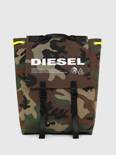 Diesel - VOLPAGO BACK, Verde Camuflaje - Mochilas - Image 1