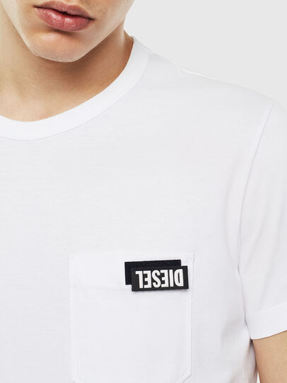 Diesel - T-WORKY-SLITS, Blanco - Camisetas - Image 3