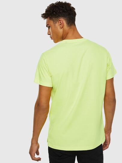 Diesel - T-DIEGO-SLITS-J6, Amarillo Fluo - Camisetas - Image 2