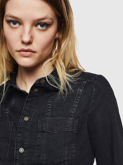 Diesel - DE-FLYP, Negro/Gris oscuro - Camisas de Denim - Image 3