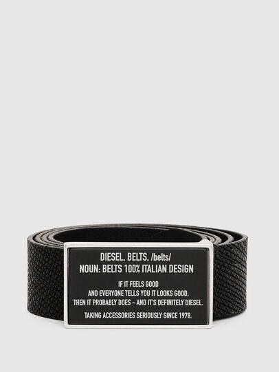Diesel - B-LAZISE, Negro - Cinturones - Image 1