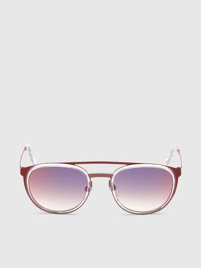 Diesel - DL0293, Rojo/Blanco - Gafas de sol - Image 1