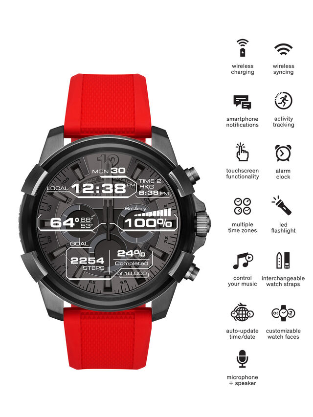 Diesel - DT2006, Rojo - Smartwatches - Image 1