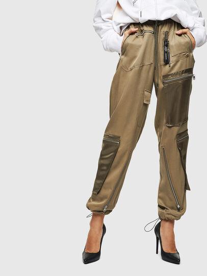 Diesel - P-LEX, Verde Militar - Pantalones - Image 1