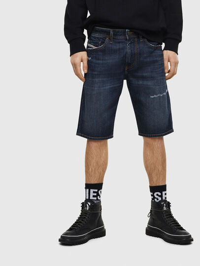 Diesel - THOSHORT, Azul Oscuro - Shorts - Image 1