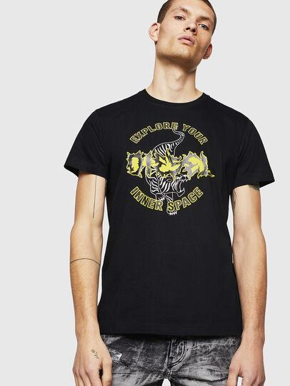Diesel - T-DIEGO-B15, Negro - Camisetas - Image 1