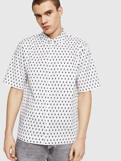 Diesel - S-FRY-SKULL, Blanco - Camisas - Image 1