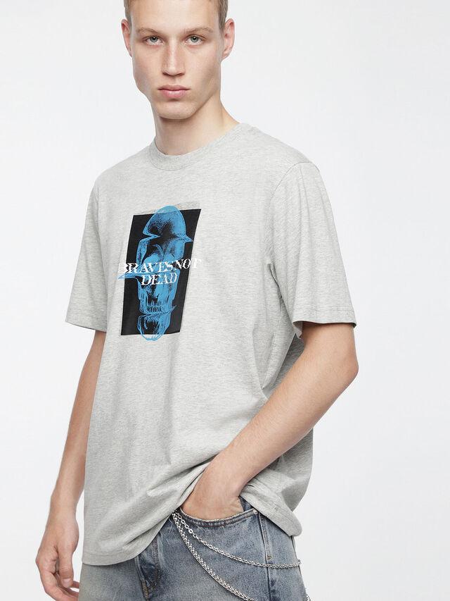 Diesel - T-JUST-XV, Gris - Camisetas - Image 1