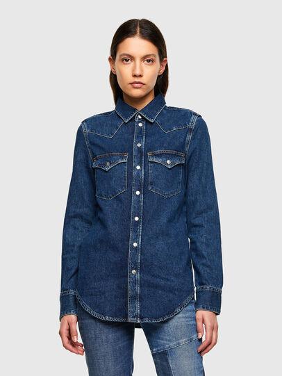 Diesel - DE-RINGY, Azul Oscuro - Camisas de Denim - Image 1