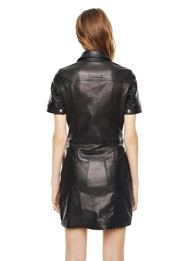Diesel - DAFFIE, Piel Negra - Vestidos en piel - Image 2