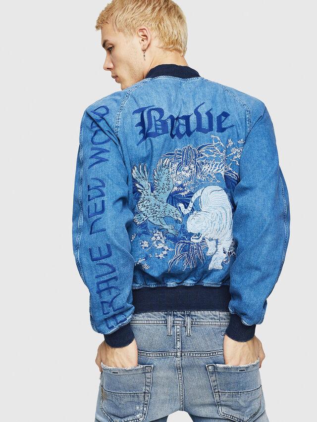 Diesel - D-BAK, Blue Jeans - Chaquetas de denim - Image 2