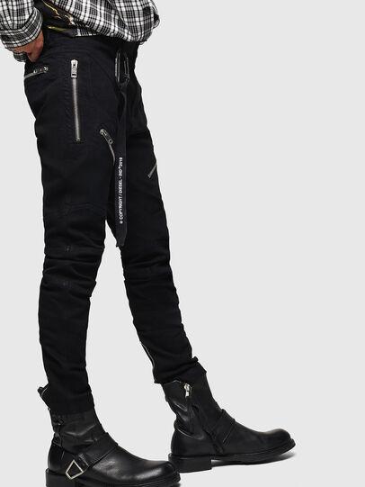 Diesel - P-VON, Negro - Pantalones - Image 4