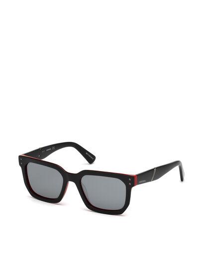 Diesel - DL0253, Negro/ Rojo - Gafas de sol - Image 4