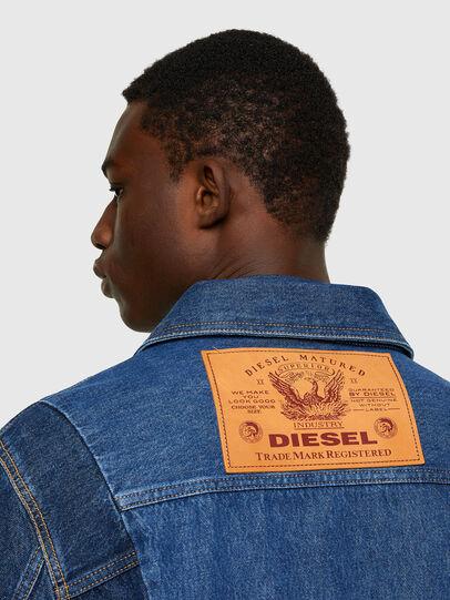 Diesel - D-COSNIL, Azul medio - Chaquetas de denim - Image 4