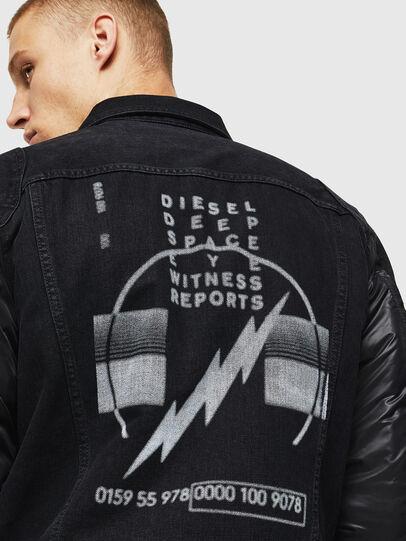 Diesel - D-BLIT, Negro/Gris oscuro - Chaquetas de denim - Image 5