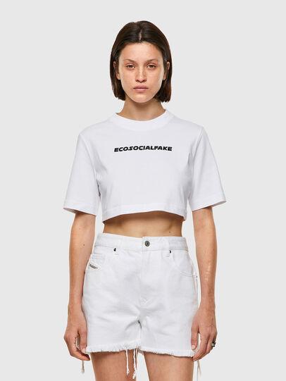 Diesel - T-RECROP, Blanco - Camisetas - Image 1