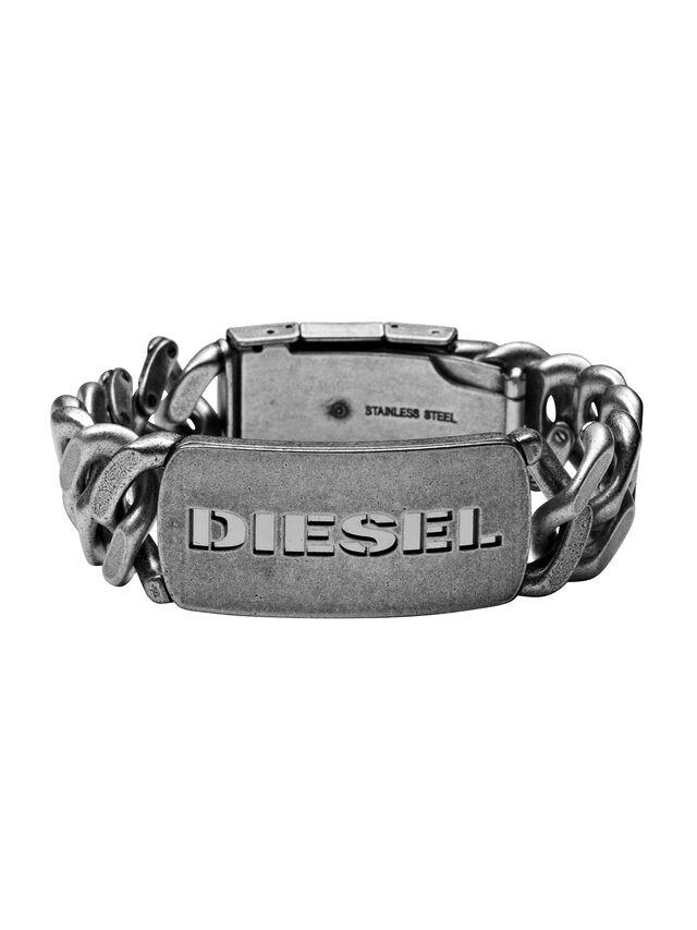 Diesel - BRACELET DX0656, Plata - Pulseras - Image 1